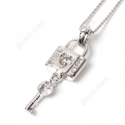 Lock and Key Pendant Necklace