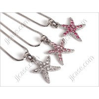 Bling Starfish Necklace with Swarovski Elements Made in KOREA - S (1 piece)
