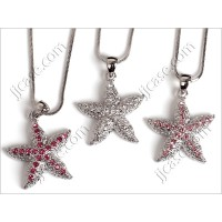 Bling Starfish Crystal Necklace with Swarovski Elements Made in KOREA (1 piece)