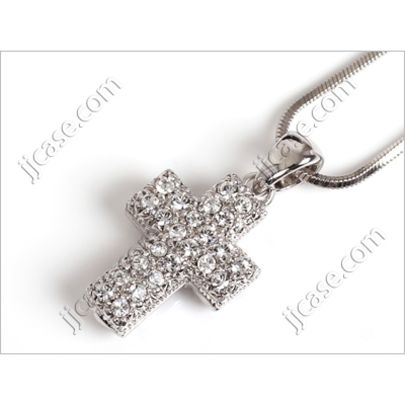 Bling crystal cross necklace with swarovski elements made in korea bling crystal cross necklace with swarovski elements made in korea s 1 pc aloadofball Choice Image